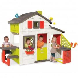 SMOBY 810201 domček Priateľov s kuchynkou lavicou a elektronickým zvončekom