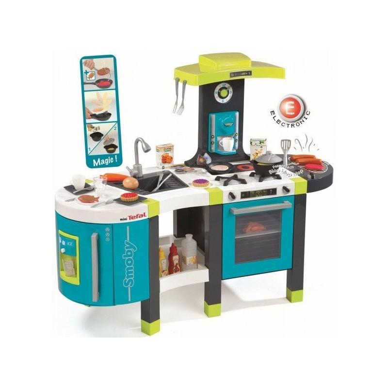 Smoby Kuchyňka French Touch modro-zelená elektronická