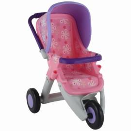 Wader QT športový kočík pre bábiky ružovo-fialový