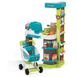 Detský obchod Smoby City Shop modro-zelený