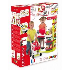 Detský obchod Smoby City Shop červeno-zelený