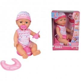 Simba bábika New Born Baby 30 cm pije, ciká
