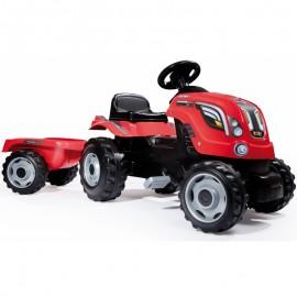 Smoby šliapací traktor Farmer XL s prívesom červený