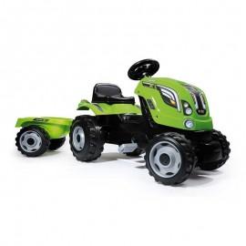 Smoby šliapací traktor Farmer XL s prívesom zelený