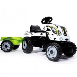 Smoby šliapací traktor Farmer XL s prívesom Kravička