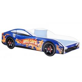 Amila Autoposteľ Cars modrá 140x70 cm s matracom