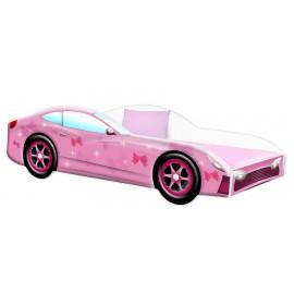 Amila Autoposteľ Cars ružová 140x70 cm s matracom