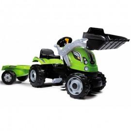 Šliapací traktor Smoby Farmer Max s vlečkou a lyžicou