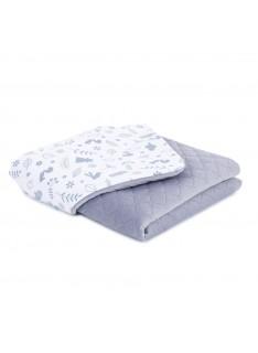 Mamo Tato vankúš a deka 75x100cm Velvet Premium Les/sivá
