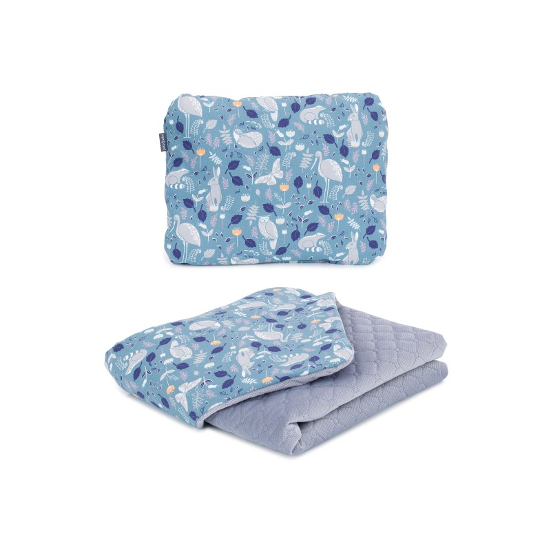Mamo Tato vankúš a deka 75x100cm Velvet Premium Volavky nepálska/sivá