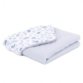 Mamo Tato deka mušelínová 75x100 cm Les/sivá