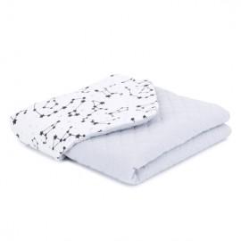 Mamo Tato deka mušelínová 75x100 cm Súhvezdie/sivá