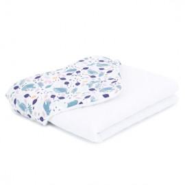 Mamo Tato deka mušelínová 75x100 cm Premium Volavky na bielom/biela