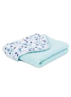 Mamo Tato deka mušelínová 75x100 cm Premium Volavky na oceáne/šalvia