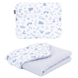 Mamo Tato vankúš a deka mušelínová 75x100 cm Les/sivá