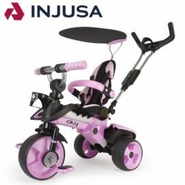 Trojkolka Injusa City Trike 3v1 ružová