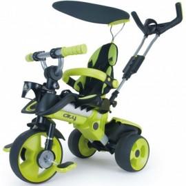 Trojkolka Injusa City Trike 3v1 zelená