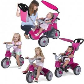 Feber Baby Trike Easy Evolution 4v1 ružová