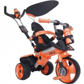 Trojkolka Injusa City Trike 3v1 oranžová