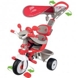 Trojkolka Smoby Baby Driver Confort 4v1 červená
