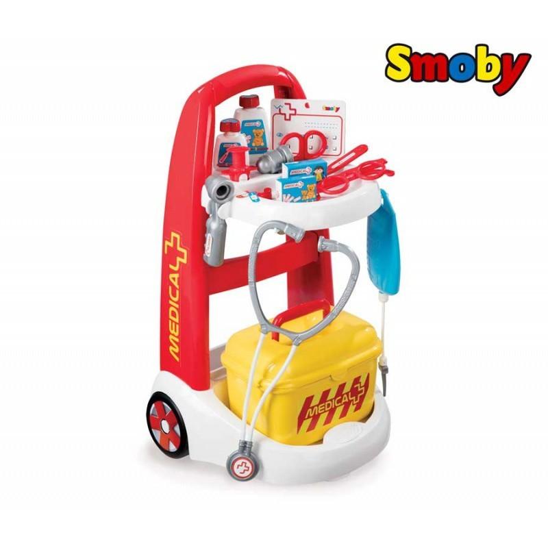 Lekársky vozík s príslušenstvom Smoby
