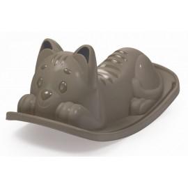 Detská hojdačka Smoby Mačička šedá