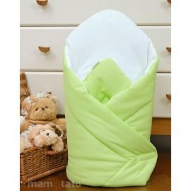 Mamo Tato Bavlnená zavinovačka s výstužou Zelená