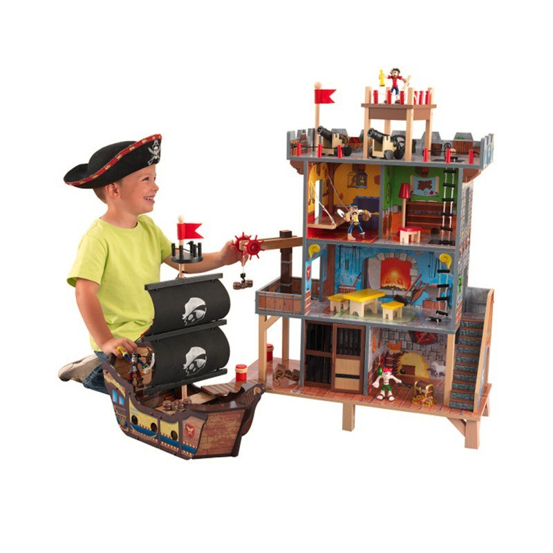 Pirátska pevnosť KidKraft s loďou