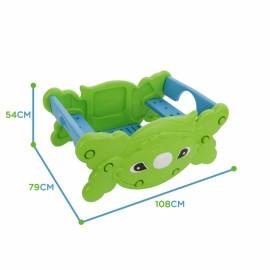 WOOPIE piknikový stôl a hojdačka 2v1 zelená
