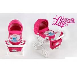 Kočík pre bábiky Adbor Lily White Princess
