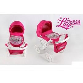 Kočík pre bábiky Adbor Lily White Dog
