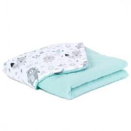 Mamo Tato deka mušelínová 75x100 cm Boho/šalvia