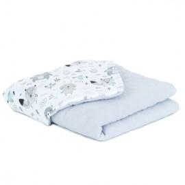 Mamo Tato deka mušelínová 75x100 cm Boho/sivá