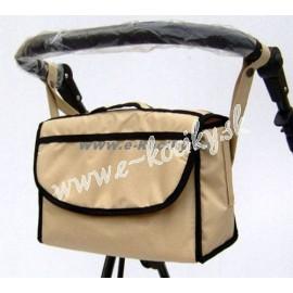 Univerzálna taška na kočiar Nestor svetlo hnedá