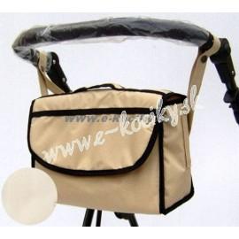 Univerzálna taška na kočiar Nestor krémová