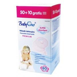 Baby Ono Vložky do podprsenky Premium 50+10ks zadarmo