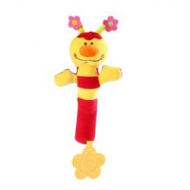 Baby Ono Pískacia hračka s hryzadlom Lienka 993