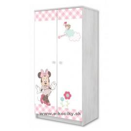 Dvojdverová skriňa Disney Minnie Mouse