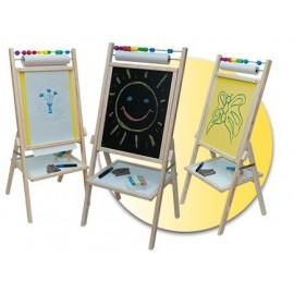 Faro Toys Otočná detská tabuľa žltá OPNY