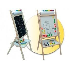 Faro Toys Otočná detská tabuľa biela OPN