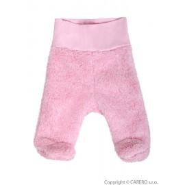 Fleecové polodupačky Baby Service Melírek ružové veľ.68