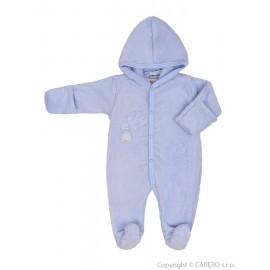 Fleecový overal Baby Service Pinguin modrý veľ.68
