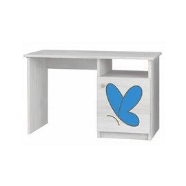 Baby Boo písací stôl Surf biela Gravir motýľ modrý