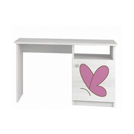 Baby Boo písací stôl Surf biela Gravir motýľ ružový