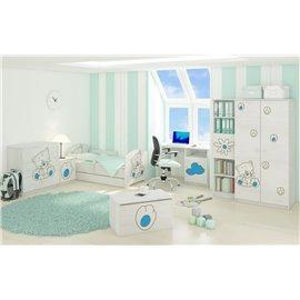 Baby Boo detská izba Oskar Gravir Surf biela Mačka modrá