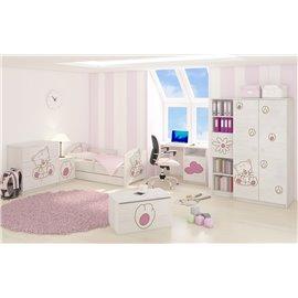 Baby Boo detská izba Oskar Gravir Surf biela Mačka ružová