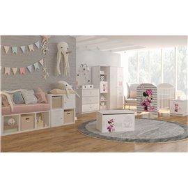 Baby Boo detská izba Disney Standard Minnie Paris pásiky