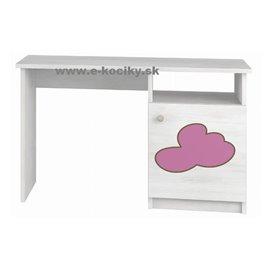 Písací stôl Baby Boo Gravir Mráčik ružový