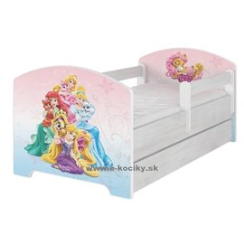 Baby Boo Detská posteľ Disney Palace Pets 140x70 cm s matracom