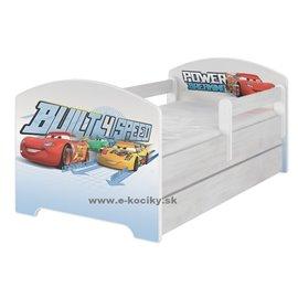 Baby Boo Detská posteľ Disney Cars 160x80 cm s matracom